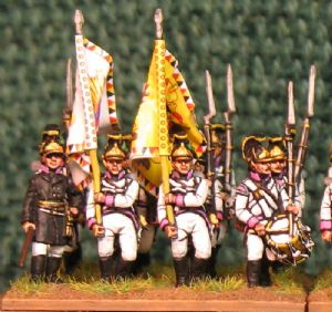 15mm, Napoleonic Austrian Fusiliers (German) pre 1809 Pink Facings AB 24 Figures